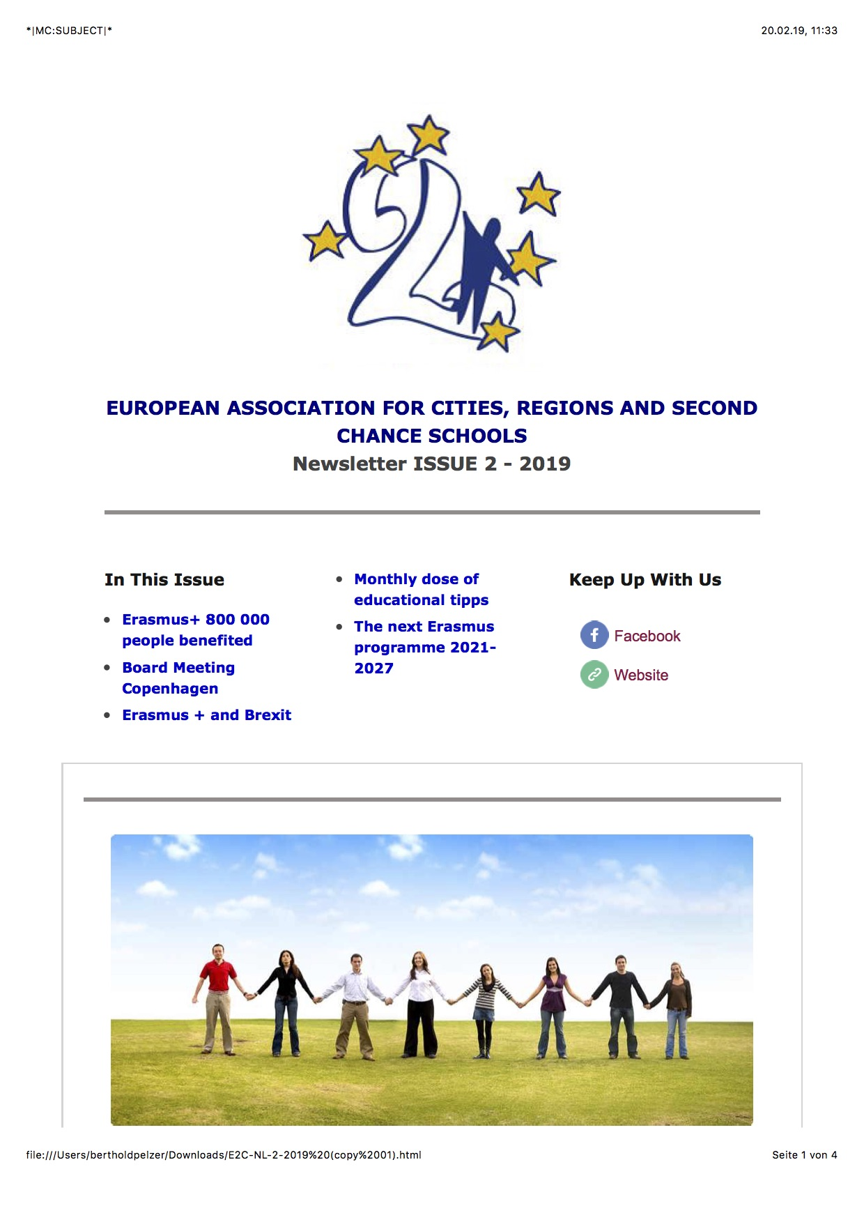E2C Newsletter Issue 2 2019