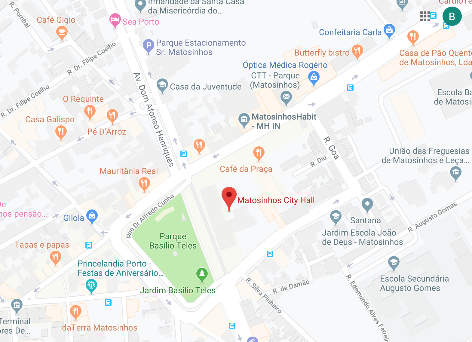 Map City Hall Matosinhos