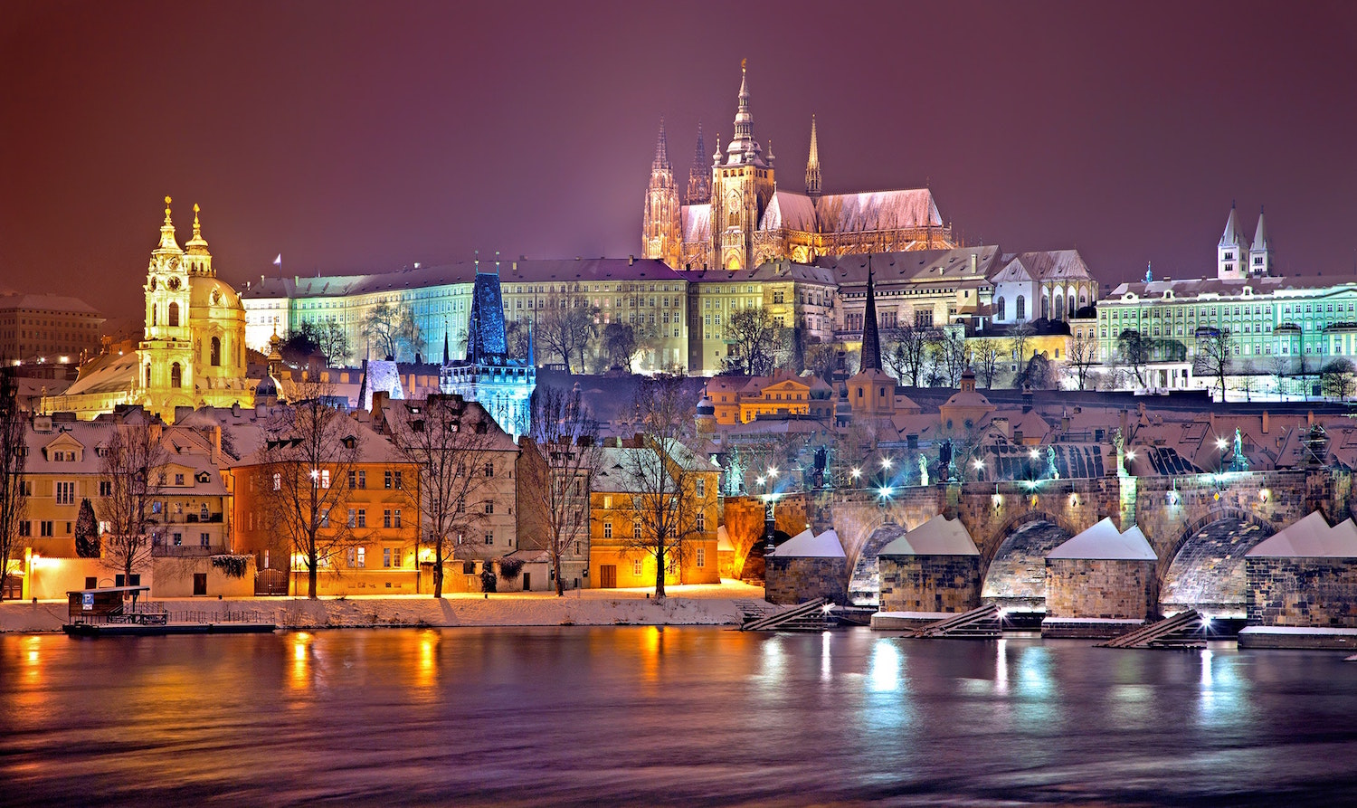 Prag Panorama night